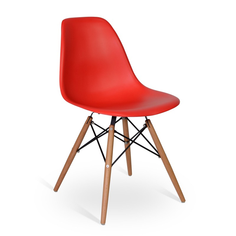 Chair Wood Style Red