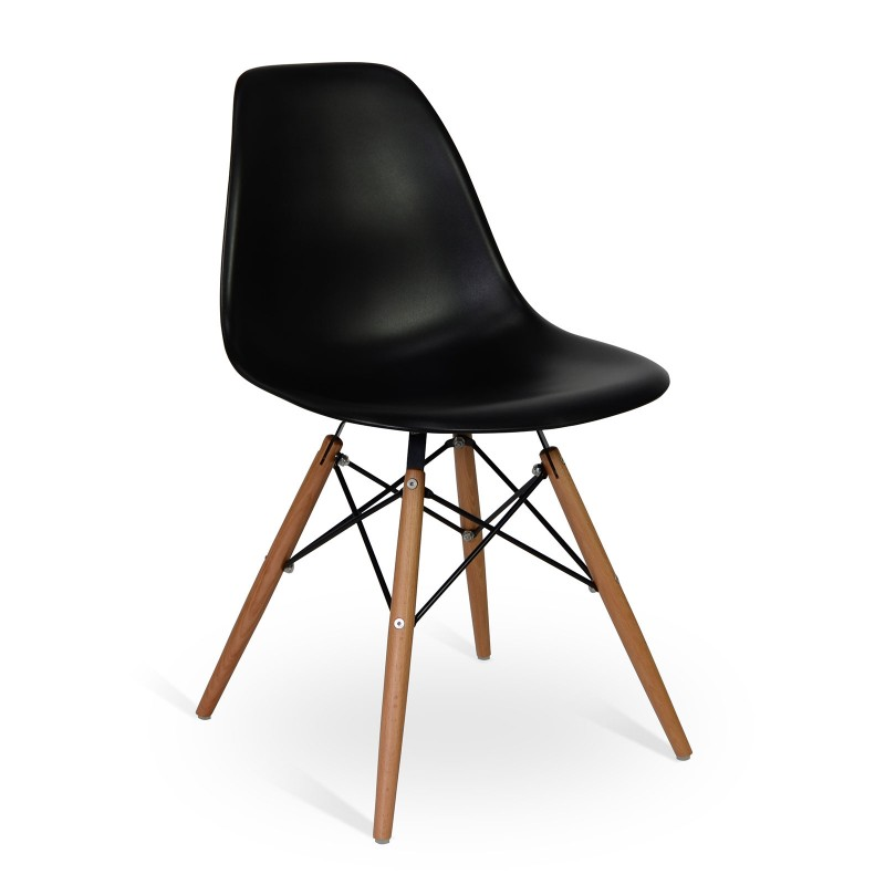 Chair Wood Style Black