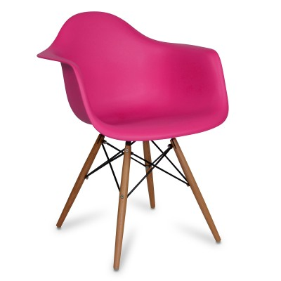 Chair Arms Wood Style Pink