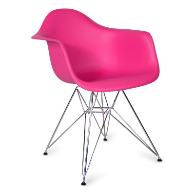 Chair Arms Chrome Style Pink