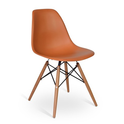 Chair Wood Style Orange
