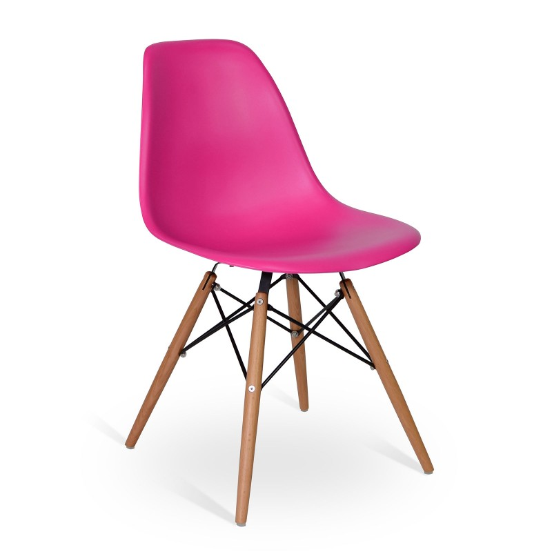 Chair Wood Style Pink