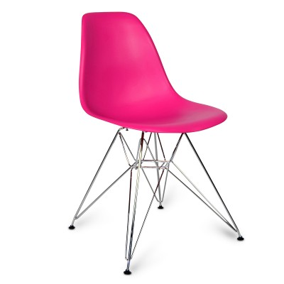 Chair Chrome Style Pink