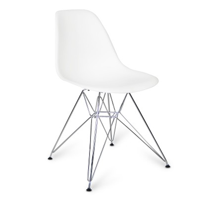 Chaise Chrome Style Blanche