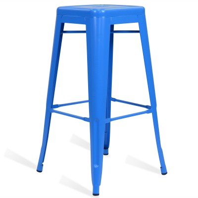 Stool of metal Classic Lix Style Blue Sky