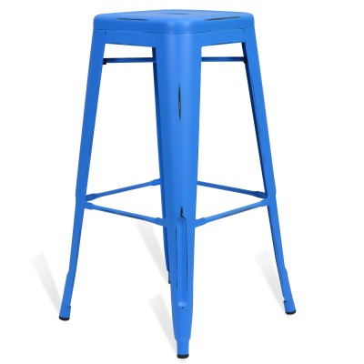 Stool of metal Classic Lix Style Vintage Blue Sky