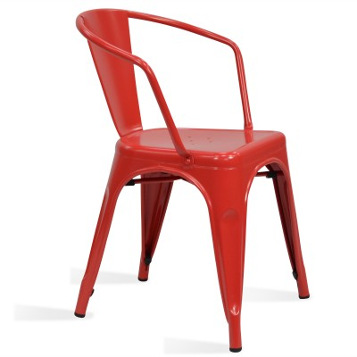 Chair Lix Arms Style Matt Red