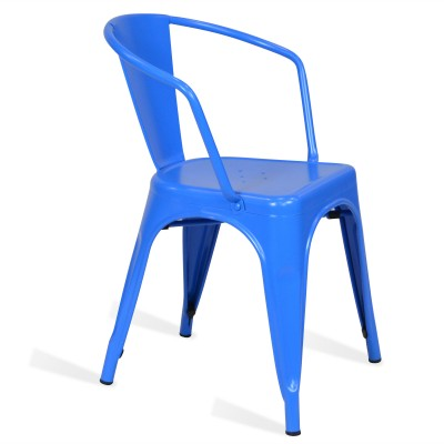 Chair Lix Arms Style Matt Blue
