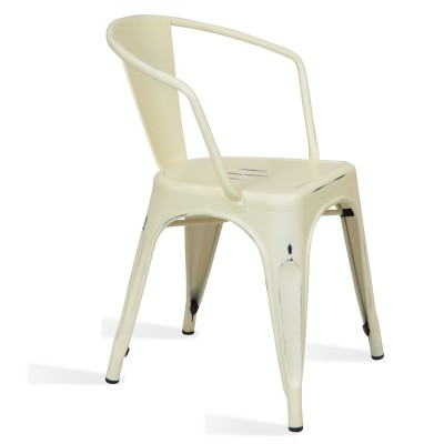 Chaise Lix Arms Style Vintage Blanche