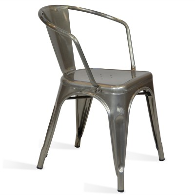 Chair Lix Arms Style Vintage Crystal Grey