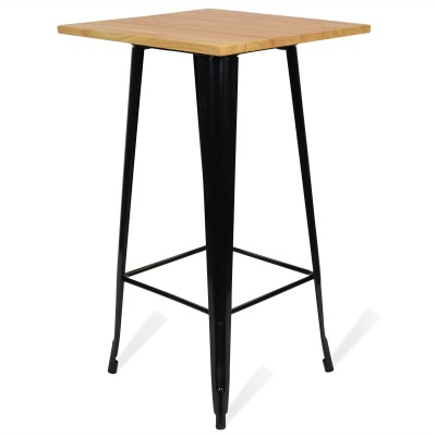 HIgh Table Tolix Style Dark Legs Antique
