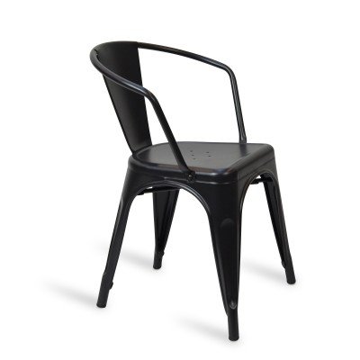 Chair Lix Arms Style Matt Black