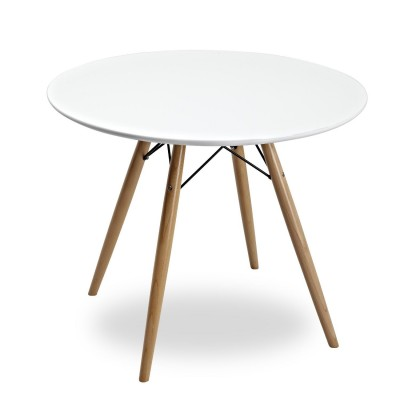 Table Wood Tower Style Ø90