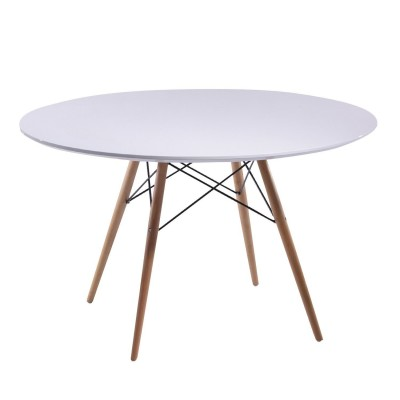 Table Wood Tower Style Ø120