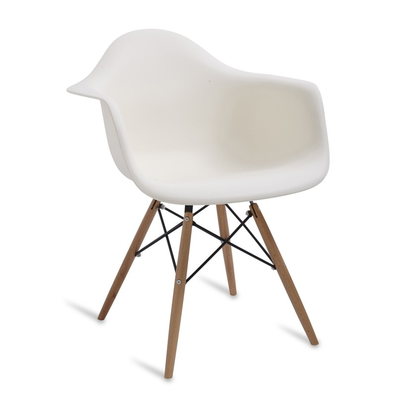 Chair Arms Wood Style Cream