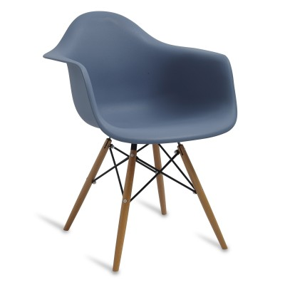 Chair Arms Wood Style Slate