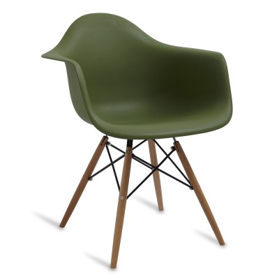 Chair Arms Wood Style Tarmac