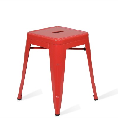 Low Stool of metal Lix Style Red Rose