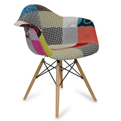 Chaise Eames DAW Style Patchwork