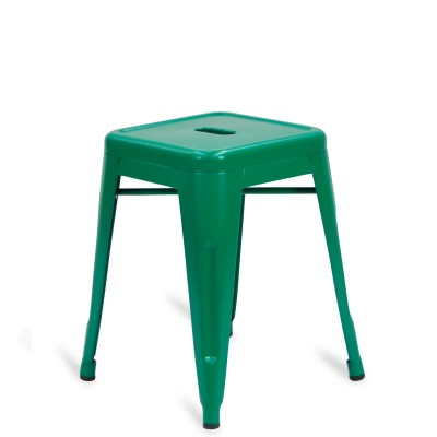 Low Stool of metal Lix Style Green Mint