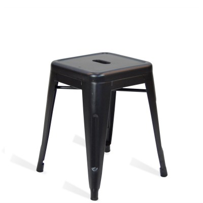 Low Stool of metal Lix Style Black Shade