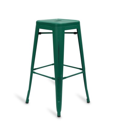 Stool of metal Classic Lix Style Vintage Green Mint